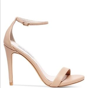 Steve Madden Stecy Nude Barely There Heels
